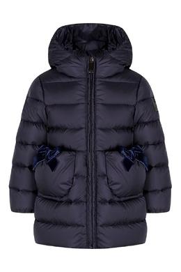 Синяя куртка с декором Il Gufo 1205161920