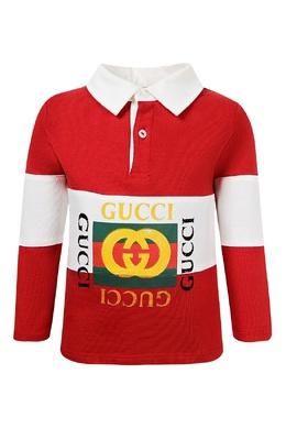 Разноцветное поло с надписями Gucci Kids 1256161942