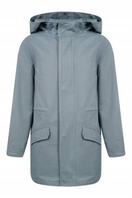 Голубая куртка с мехом Yves Salomon Kids 1917161882