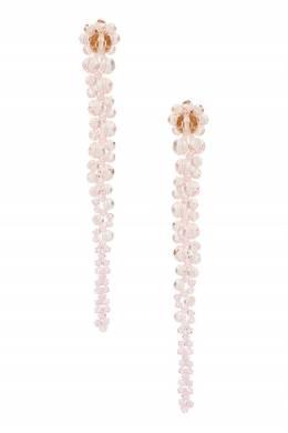 Каскадные серьги из розовых бусин Simone Rocha 250161270