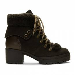See By Chloe Brown Eileen Heeled Boots 192373F11301203GB
