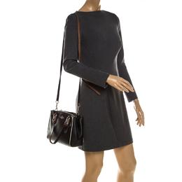 Coach Black Leather Mini Christie Carryall Crossbody Bag