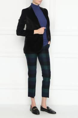 Клетчатые брюки из шерсти Paul Smith 1924162884