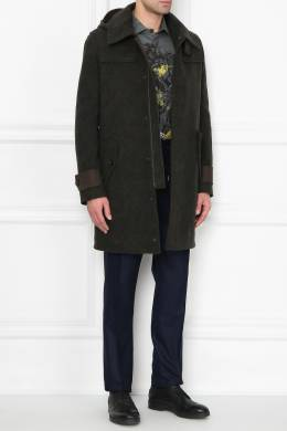 Шерстяное пальто на молнии Etro 907162076
