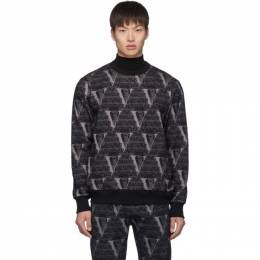 Undercover Black Valentino Edition Printed Sweatshirt 192414M20401204GB