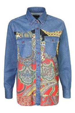 Рубашка из денима с узором Etro 907159091