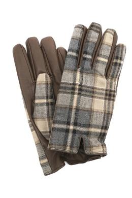 Кожаные перчатки с клетчатыми вставками Etro 907159103