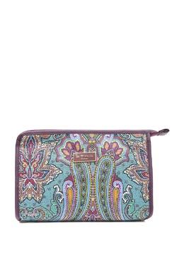 Бирюзовая текстильная косметичка с узорами Etro 907159065