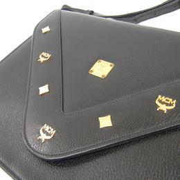 MCM Black Leather Shoulder Bag 240961