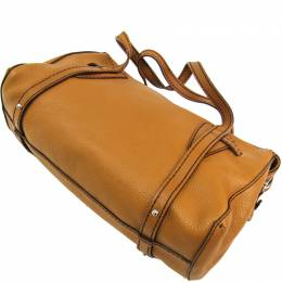 Tod's Camel Leather Duffle Bag 240996