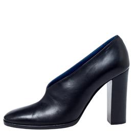 Celine Black Leather V Neck Pumps Size 37 240762