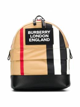 Burberry Kids рюкзак Nico в полоску 8025037