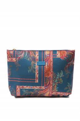Синяя косметичка из текстиля с узорами Etro 907163727