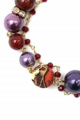 Фиолетово-терракотовый комбинированный браслет Etro 907163688