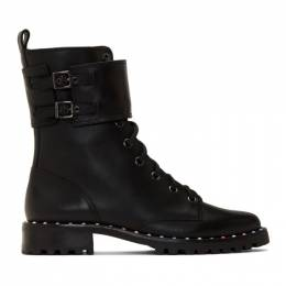 Sophia Webster Black Bessie Combat Boots 192504F11400103GB