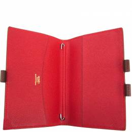 Hermes Brown Leather Agenda Planner Cover 240803