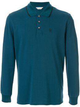 Gieves & Hawkes рубашка-поло с длинными рукавами G40H8E102047
