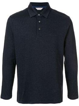 Gieves & Hawkes рубашка-поло с длинными рукавами G40H8E107039