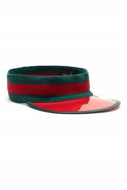 Кепка красно-зеленого цвета Gucci 470164119