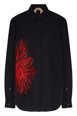 Черная рубашка с узором No. 21 35163971
