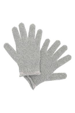 Серо-бежевые перчатки Fabiana Filippi 2658163061