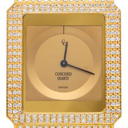 Concord Delirium Full Diamond 18K Yellow Gold Watch 30MM