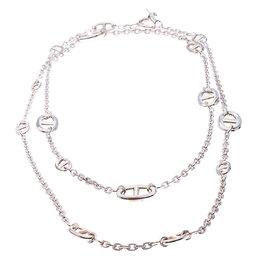 Hermes Farandole Sterling Silver Long Necklace 120 239197