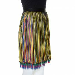 Christopher Kane Multicolor Fringed Skirt M 241659