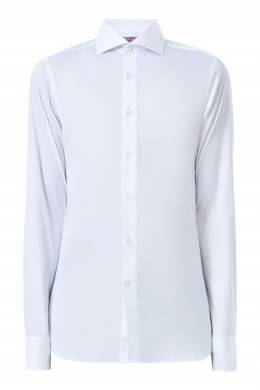 Белая рубашка из хлопковой ткани Canali 1793162387