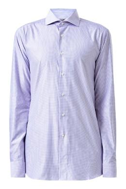 Рубашка сиреневого цвета в клетку Canali 1793162373