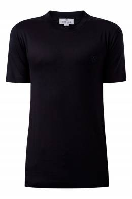 Трикотажная футболка черного цвета Canali 1793162412