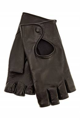 Черные перчатки с прорезями Ermanno Scervino 1328162326