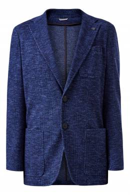 Синий пиджак из твида Canali 1793162337