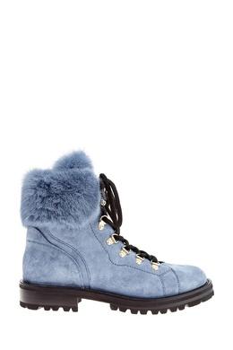 Голубые ботинки с меховой отделкой Ermanno Scervino 1328162199