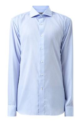 Голубая рубашка плетеной фактуры Canali 1793162381