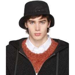 Neil Barrett Black Pierced Bucket Hat 192368M14000301GB
