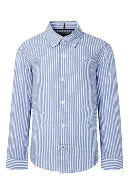 Голубая полосатая рубашка Tommy Hilfiger Kids 2646163926