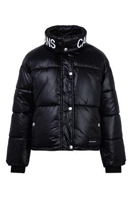 Черный пуховик с надписью Calvin Klein Kids 2815163998