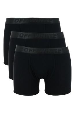 Комплект черных трусов-боксеров Off-White 2202164451