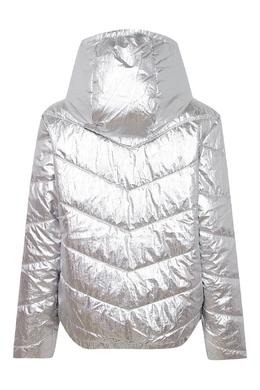 Серебристо-белая куртка на молнии Calvin Klein Kids 2815164016