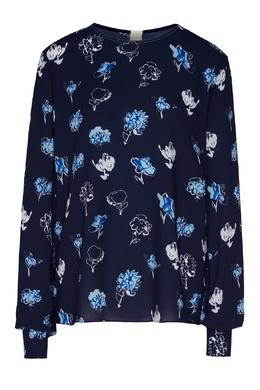 Блуза синего цвета Marni 294163632