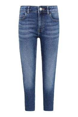 Голубые, зауженные книзу джинсы Calvin Klein Kids 2815164085