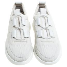Hermes White Mesh Team Sneakers Size 38 242529