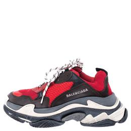Balenciaga Multicolor Mesh, Nubuck And Leather Triple S Platform Sneakers Size 39
