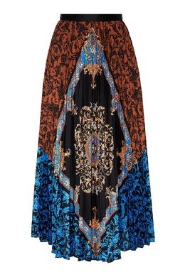 Плиссированная разноцветная юбка Sandro 914164588