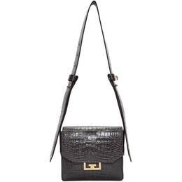 Givenchy Grey Small Croc Eden Bag 192278F04805001GB