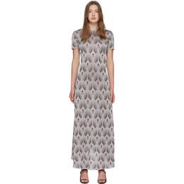 Paco Rabanne Silver Printed Short Sleeve Dress 192605F05500501GB