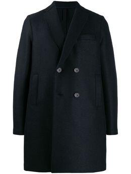 Harris Wharf London двубортное пальто свободного кроя C9105MLK