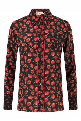 Шелковая рубашка с принтом No. 21 35165322