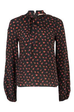 Шелковая блузка с принтом No. 21 35165311